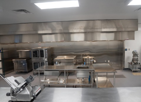 Equipment in the Brass City Harvest commercial kitchen space.